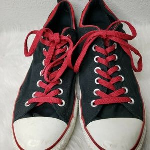 CONVERSE ALLSTAR Chuck Taylor Black Red Low Top